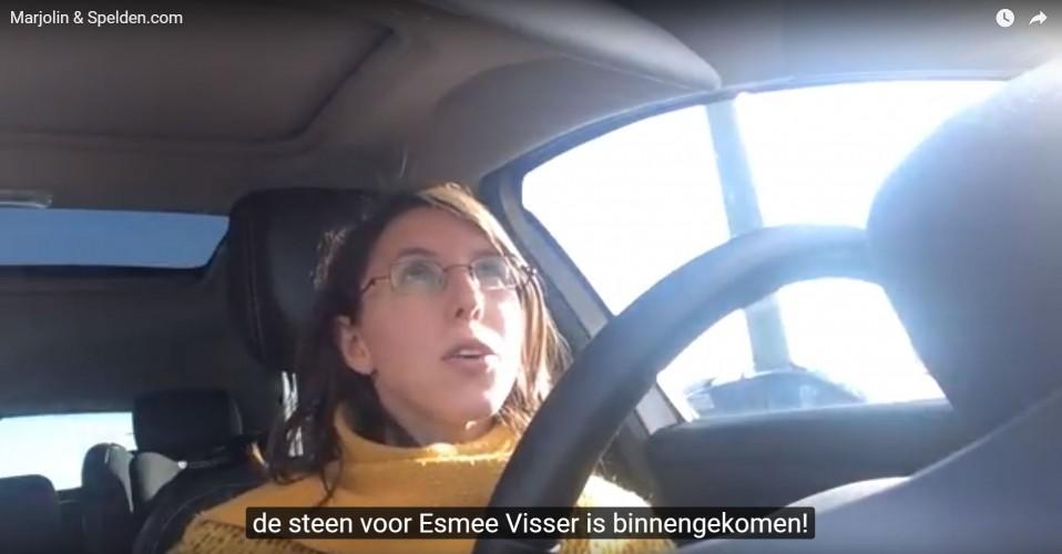 Pin voor Esmee Visser: de steen erop